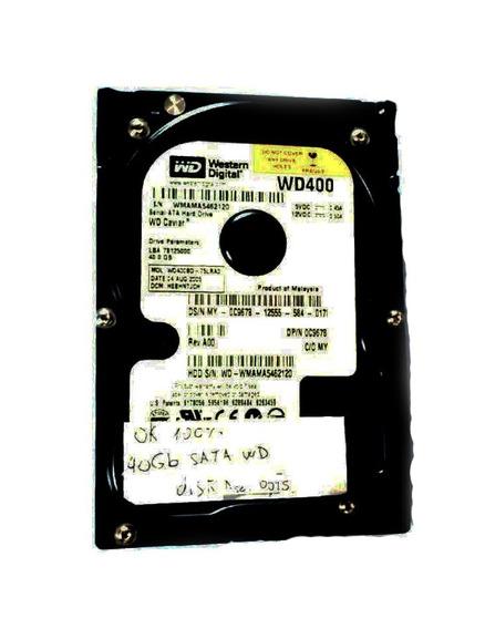 Disco Rígido Sata 40gb Wd Pc + Cable Sata