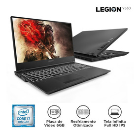 Notebook Lenovo Gamer Legion Y530 I7-8750h 16gb 1tb 128 Ssd