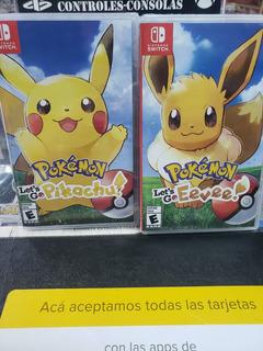 Pokemon Evee Y Pikachu Nintendo Switch!!zona Norte