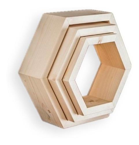 Imagen 1 de 4 de Estante Hexagonal X3 Unidades
