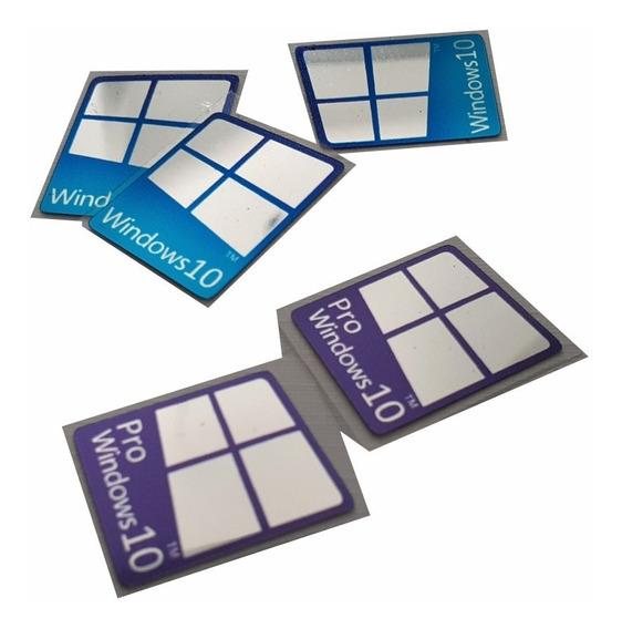 Adesivos Windows 10 Nvidia Asus Intel (8 Uni) Frete Gratis