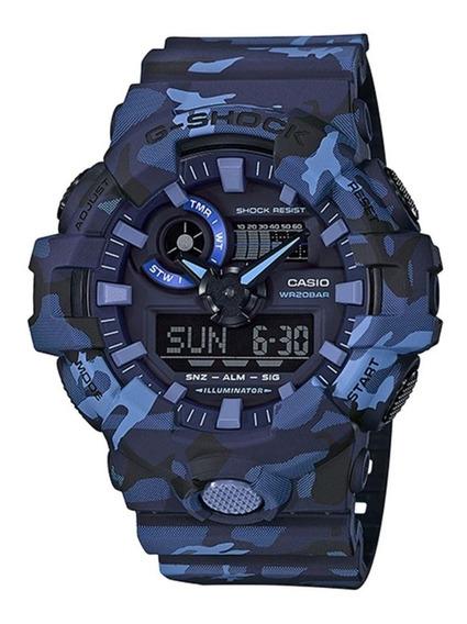Relógio Masculino Casio G-shock Ga-700cm-2adr - Azul