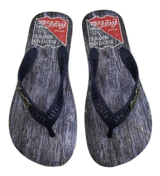 Chinelo Coca Cola Shoes Atlanta Ii Tamanho Espcial Cc2573