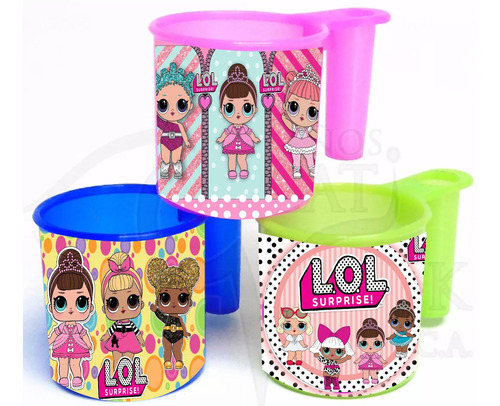 Vaso Portacepillo Cotillon Lol Unicornio Advengers Pop 1.5 V