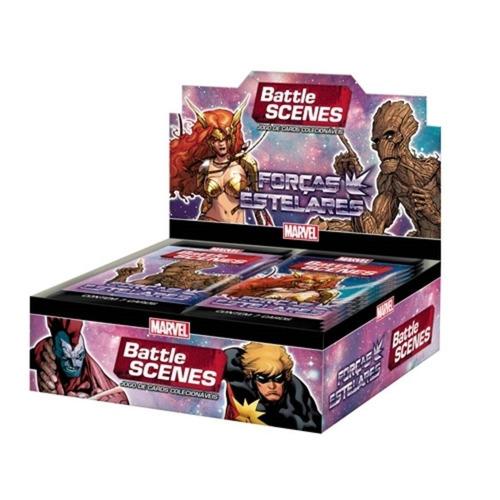 Box Card 36 Boosters Battle Scenes Marvel Forças Estelares