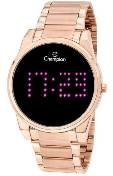 Relógio Champion Lançamento Digital Dourado Rose Cx E N.f.