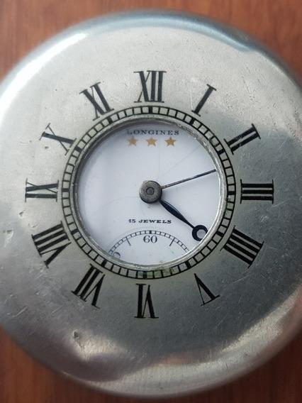 Reloj Longines Cazador De Bolsillo Acero Inoxidable Ral