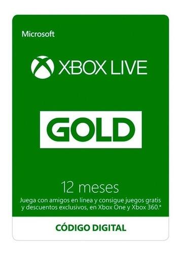 Imagen 1 de 1 de Microsoft  Xbox Live Gold 12 Meses (código Digital)