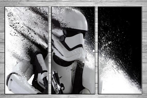 Cuadros Modernos Star Wars Vader Yoda Stormtrooper 120x57 A7