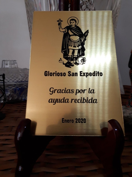 Placa Agradecimiento San Expedito