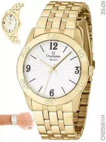 Relógio Feminino Dourado Champion Cn25001h