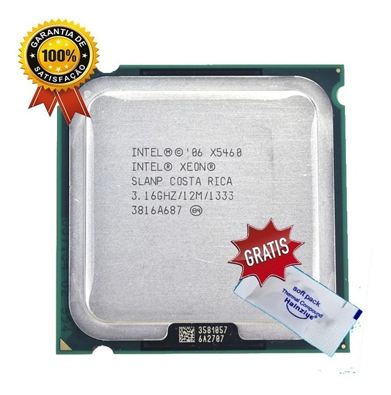 Processador Intel Core 2 Quad Q9650 Xeon X5460 775 + Brinde