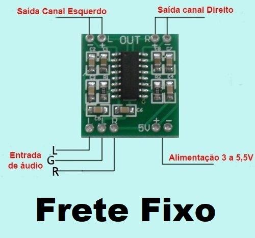 Mini Amplificador Audio Estéreo 2x3 Watts ( Frete R$15,00 )