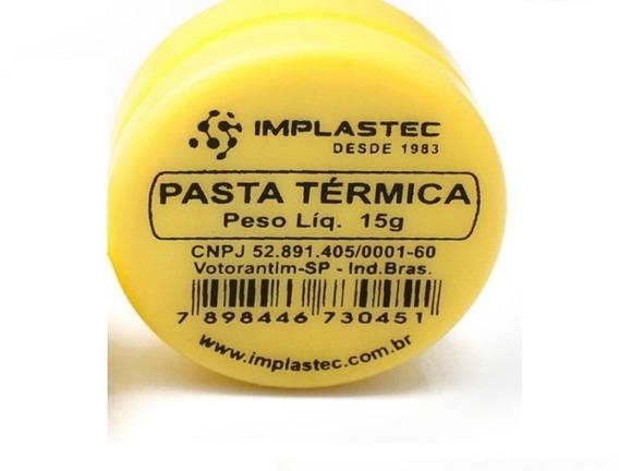 10 Pasta Termica 15g Pote P/pc Processador Cooler- Implastec