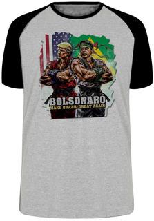 Camiseta Luxo Bolsonaro Trump Street Fighters Presidente Ken