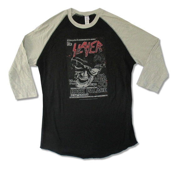 Slayer Playera Raglan Rock Palace Oficial Thrash Metal Srsx