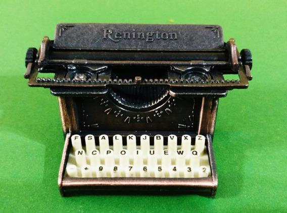 Maquina De Escribir Coleccion Miniatura Metal + Sacapuntas