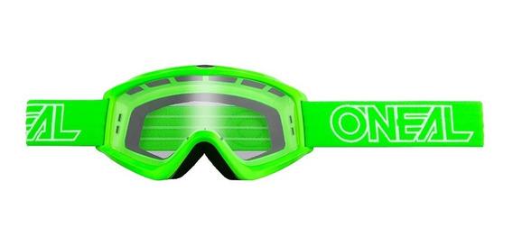 Goggles Motocross Enduro Oneal B-zero Verde Proteccion Uv