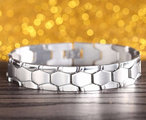 Pulseira Bracelete Unissex Masculino Feminino Aço Inox M09