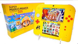 Nintendo 2ds Mario Maker + 200 Juegos + 32gb + Temas