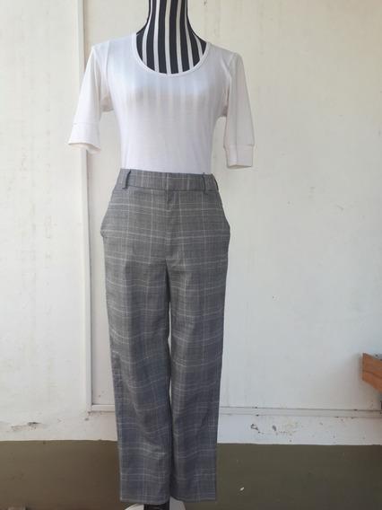 Pantalón Diseño Príncipe De Gales, Marca: Gu, Zona Sur.