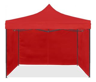 Carpa Plegable 3x3 C/ 3 Laterales Acero Inox Plegable Playa, Feria,camping,exposicion,motocross,eventos,sol,sombra,pesca