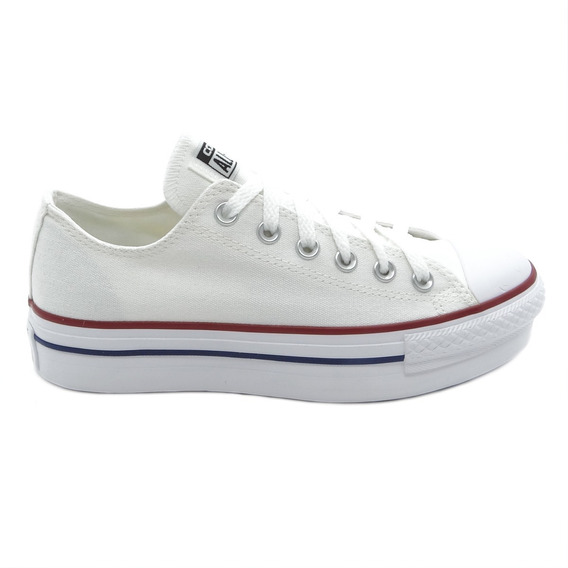 Tênis Converse All Star Chuck Taylor As Plataform Ox Branco