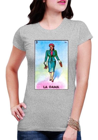 Blusa Playera Loteria Mexicana La Dama Todas Las Cartas