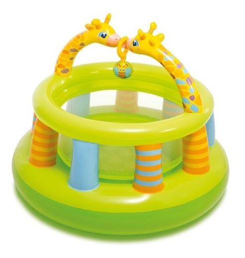 Corralito Inflable Mini Gimnasio Jirafas Para Bebes Intex
