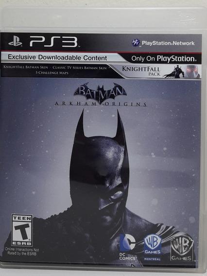 Jogo De Ps3 Batman Arkhan Origins Em Inglês. Mídia Física