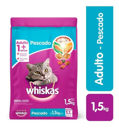 Comida Para Gatos Whiskas  Adulto Pescado X 1,5 Kg