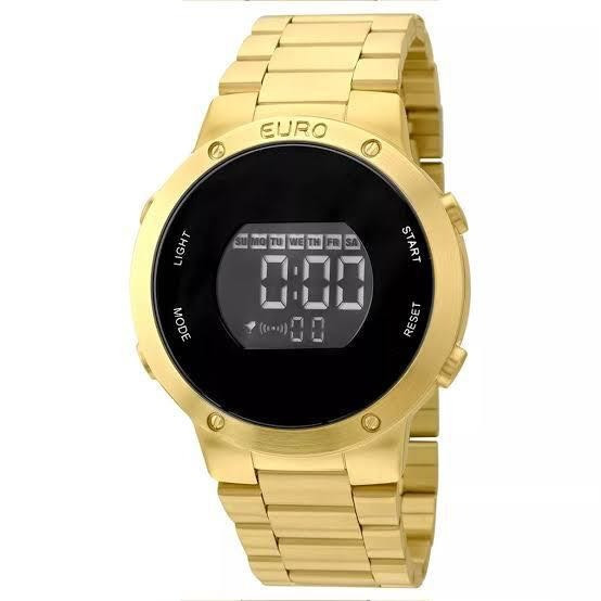 Relógio Euro Digital, Dourado Eubj3279aa/4d, Coleção Sabrina
