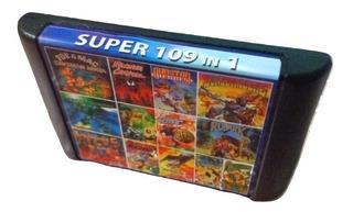 Cartucho 109 Juegos Sega No Repetidos Retro 16 Bit Once