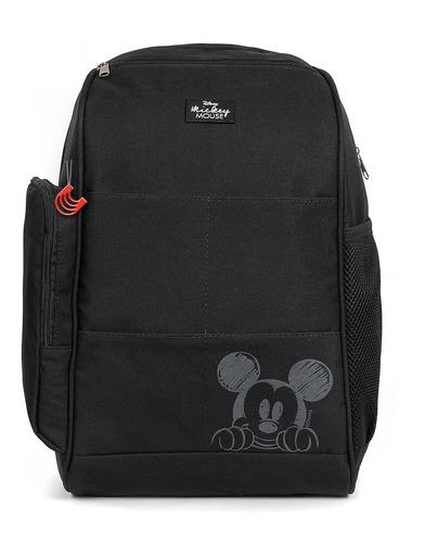 Imagem 1 de 5 de Mochila Baby Bag Casual Top Mickey Preto C/ Trocador Disney