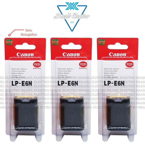 Kit 3 Baterias Canon Lp-e6n 5d2 7d 7d2 6d 70d 60d 80d Eos