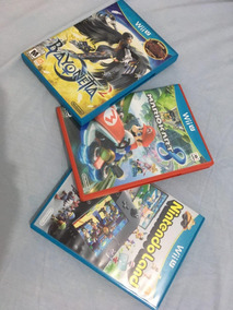 4 Jogos Wiiu - Mario Kart 8 + Bayonetta 1 E 2+ Nintendo Land