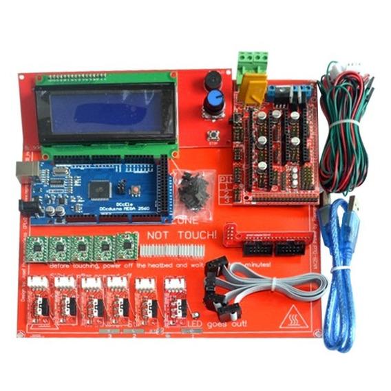 Kit Ramps 1.4 + Mega R3 + Mesa + A4988 + Controlador 20x4 Nf