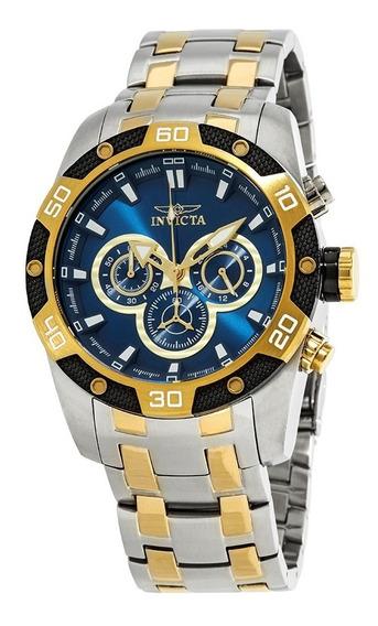 Relógio Invicta Speedway 25843 Original Prata C/ Dourado