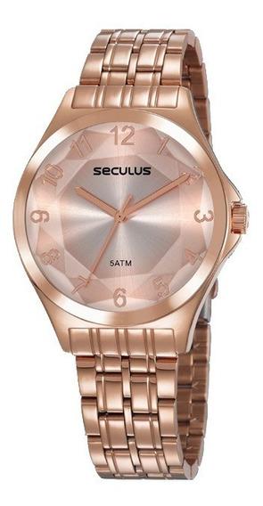 Relógio Seculus Feminino Rosé 23602lpsvrs4