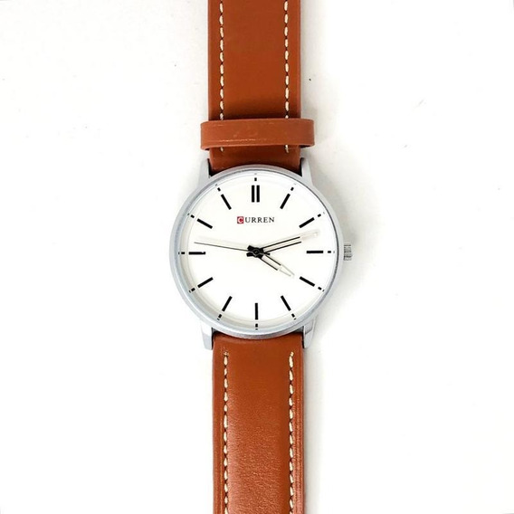 Relógio Masculino Analógico 8233 Branco Curren