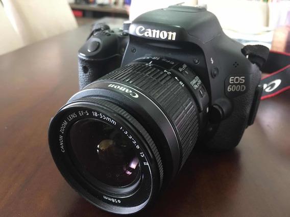 Camera Canon Eos 600d Com Lente 18-55mm