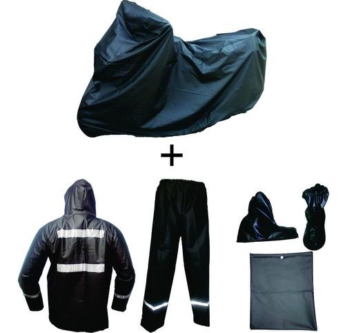 Combo Impermeable Moto X2 Pijama + Traje + Cuellero Xxl