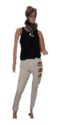 47 Street Pantalon Babucha De Algodon Con Emoji