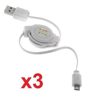 Etech Collection 3 Pack De Cable Retractil Usb A Microusb Ca