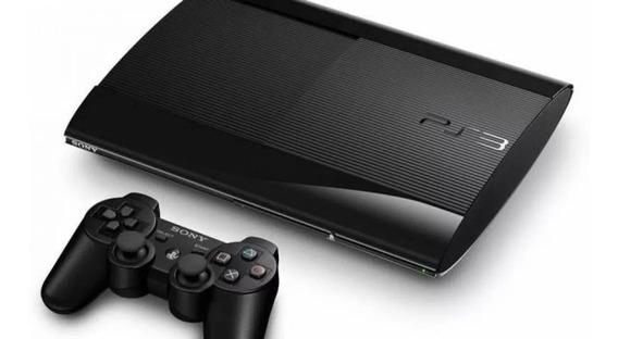 Ps3 Playstation 3 Super Slim 500gb + De 20 Jogos