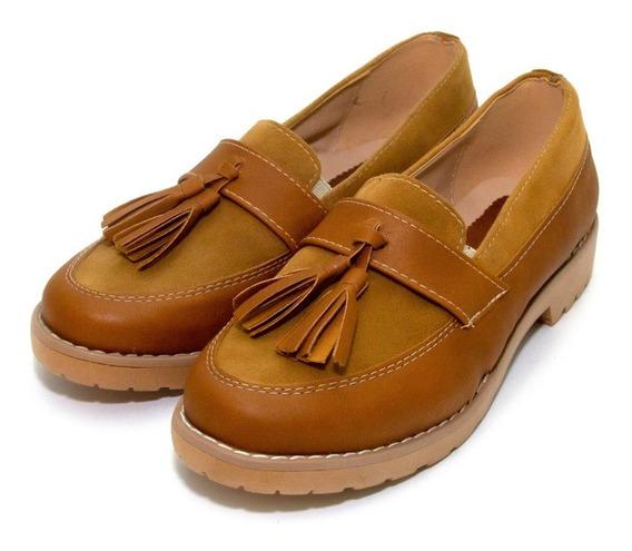 Zapatos Mocasin Combinado Fleco Class Express Mod. 07