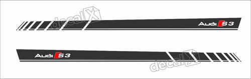 Adesivo Faixa Emblema Audi A3 S3 Faixa Lateral Imp108
