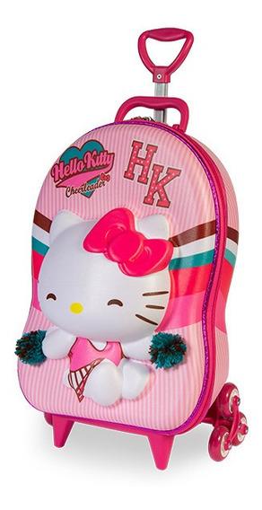 Mochila Escolar Hello Kitty 3d + Lancheira Mochila