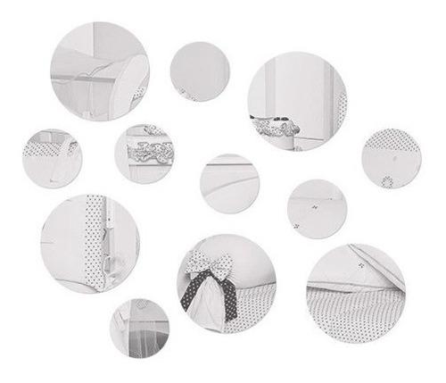 Imagem 1 de 1 de Espelho Acrilico Decorativo 12 Bolas Circulos