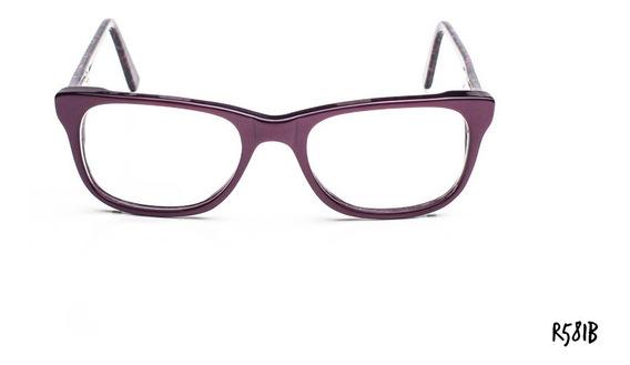 Armazones Anteojos Gafas Acetato Con Flex Zafhir R581